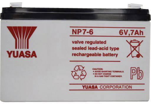 Olovený akumulátor Yuasa NP7-6 YUANP7/6, 7 Ah, 6 V