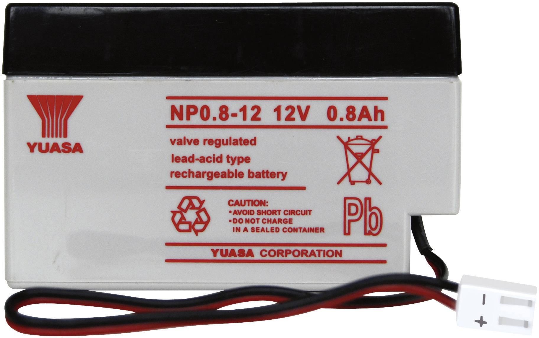 Olovený akumulátor Yuasa NP0.8-12 NP0.8-12, 0.8 Ah, 12 V