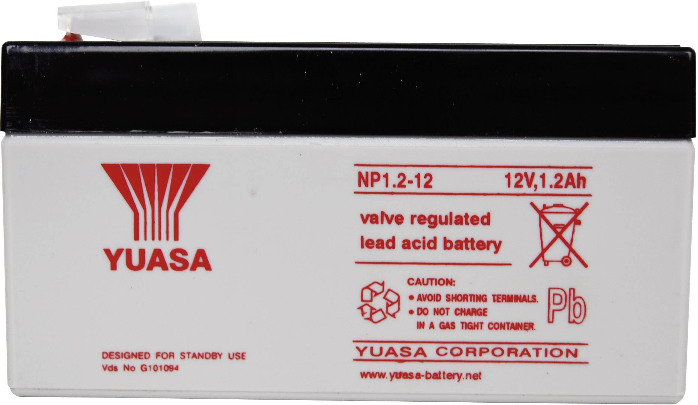Olovený akumulátor Yuasa NP1.2-12 NP1.2-12, 1.2 Ah, 12 V