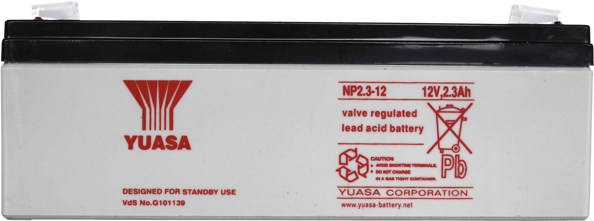 Olovený akumulátor Yuasa NP2.3-12 NP2.3-12, 2.3 Ah, 12 V