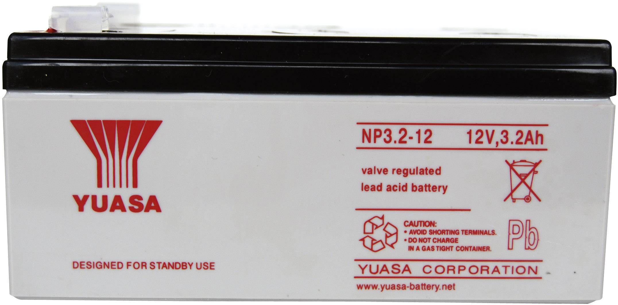 Olovený akumulátor Yuasa NP3.2-12 YUANP3.2/12RP, 3.2 Ah, 12 V