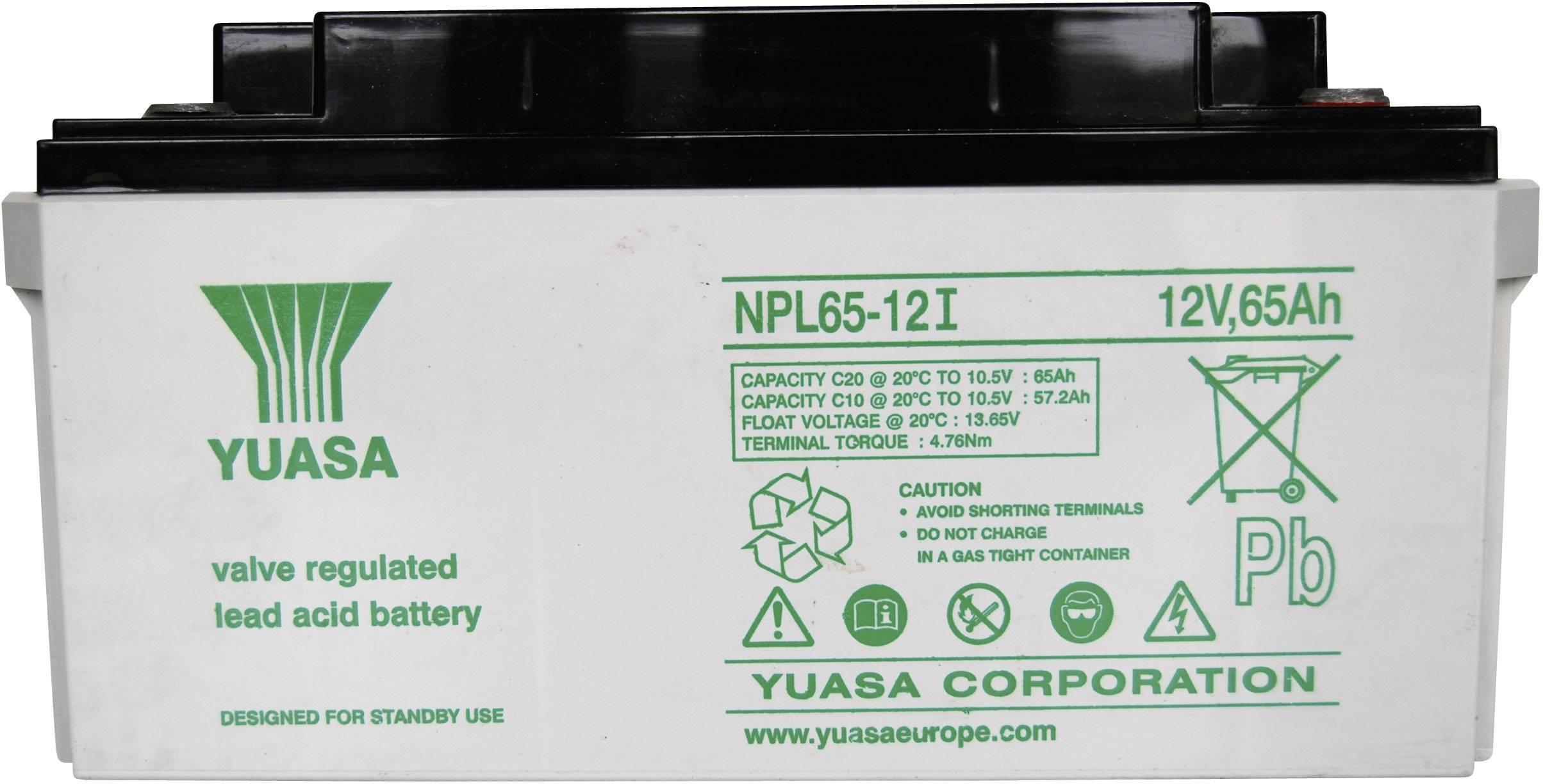 YUASA séria NPL/RE 12V 65 Ah