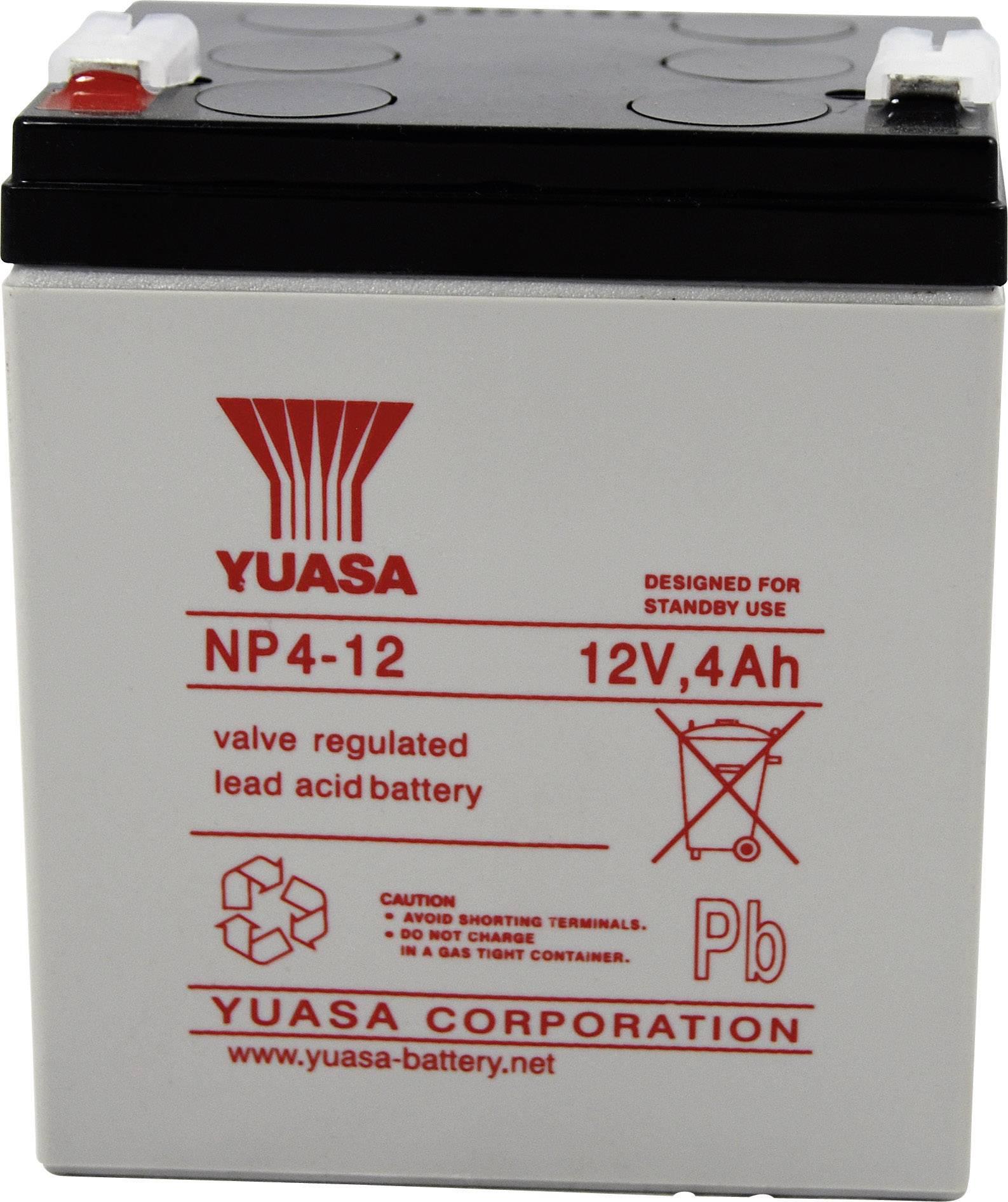 Olovený akumulátor Yuasa NP4-12 NP4-12, 4 Ah, 12 V