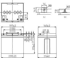 Olovnaté akumulátory odolné voči cyklom12V 38 Ah