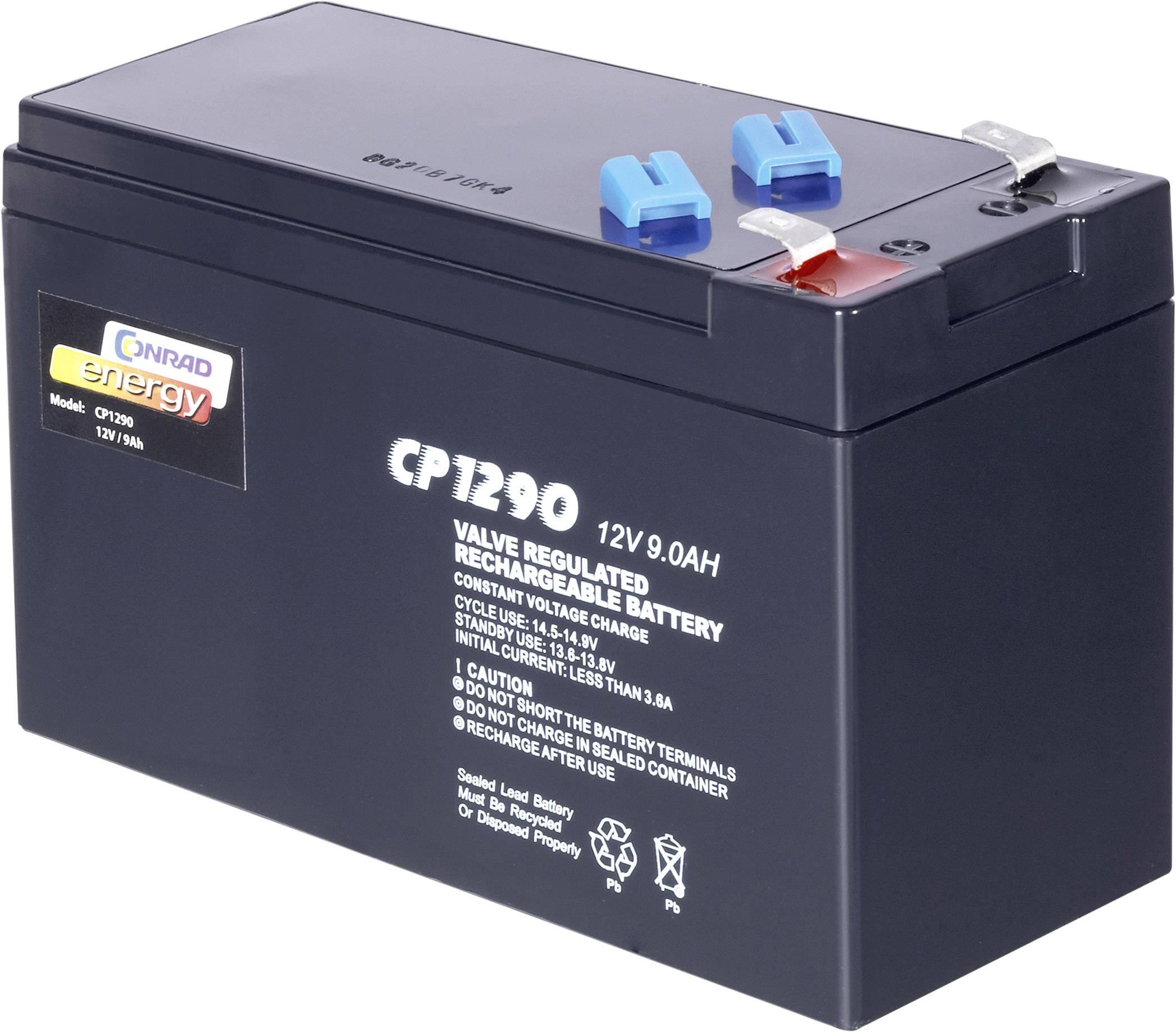 Olovený akumulátor Conrad energy 12 V 9 Ah 250915, 9 Ah, 12 V