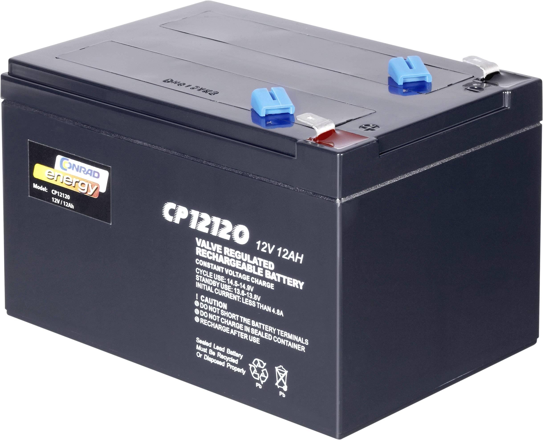 Olovený akumulátor Conrad energy 12 V 12 Ah 250916, 12 Ah, 12 V