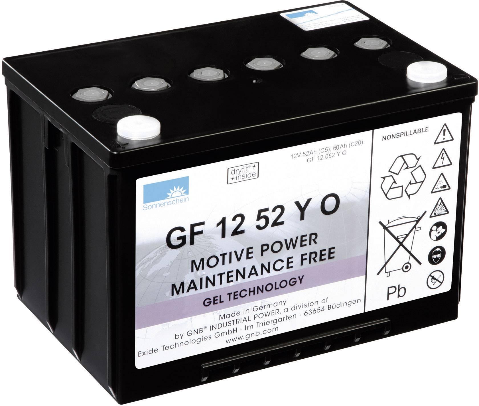 Gelový akumulátor, 12 V/52 Ah, Exide Sonnenschein GF12052Y0