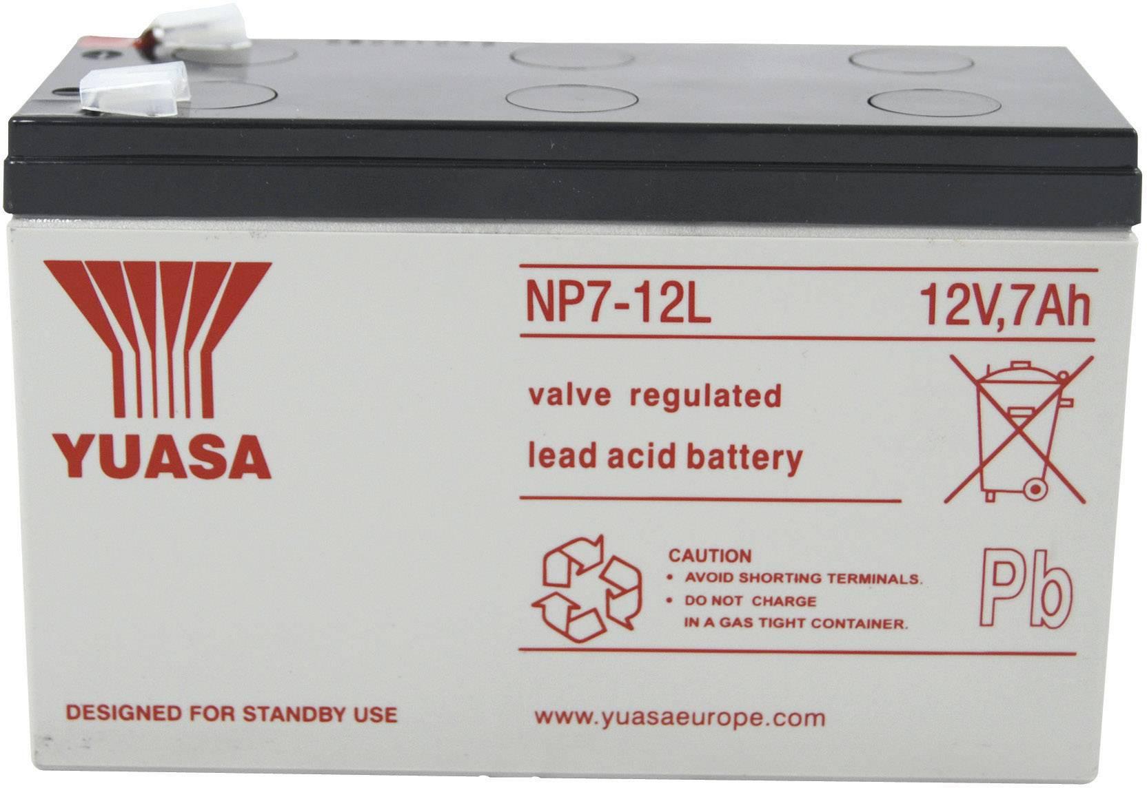 Olovený akumulátor Yuasa NP7-12 L YUANP7-12L, 7 Ah, 12 V