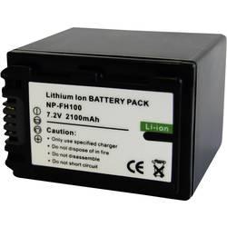 Náhradné batérie pre kamery Conrad Energy NP-FH100, 7,2 V, 2100 mAh