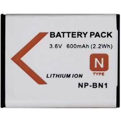 Náhradné batérie pre kamery Conrad Energy NP-BN1, 3,6 V, 500 mAh