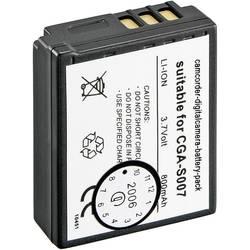 Li-Ion akumulátor pro Panasonic CGA-S007, 250985, 3,7 V, 900 mAh, černá