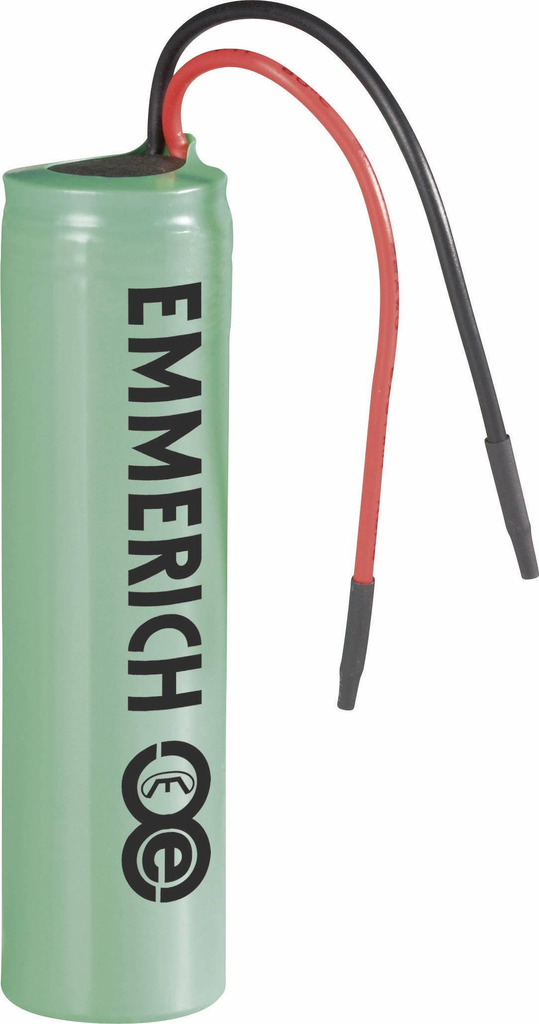 Špeciálny akumulátor Emmerich NCR18650A, 18650, Li-Ion akumulátor, 3.6 V, 3100 mAh
