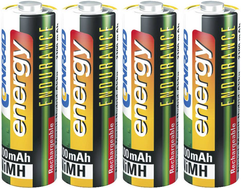 Tužkový akumulátor typu AA NiMH Conrad energy Endurance HR06 251080, 2300 mAh, 1.2 V, 4 ks