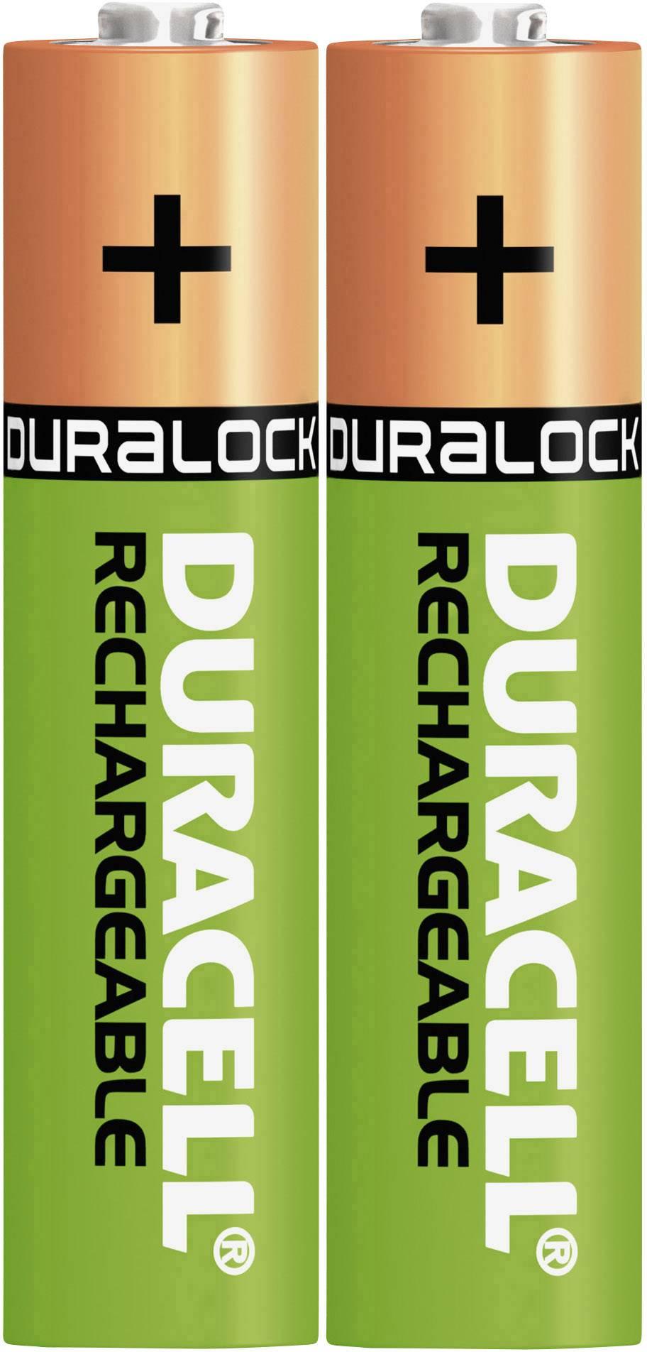 Mikrotužkový akumulátor typu AAA NiMH Duracell StayCharged HR03 DUR203815, 800 mAh, 1.2 V, 2 ks