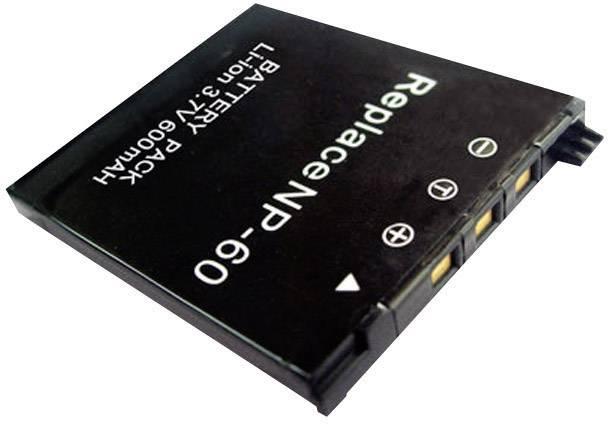 Náhradné batérie pre kamery Conrad Energy NP-60, 3,7 V, 500 mAh