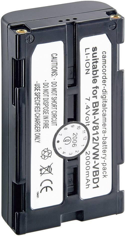 Akumulátor do kamery Conrad energy 251158 251158, 2000 mAh