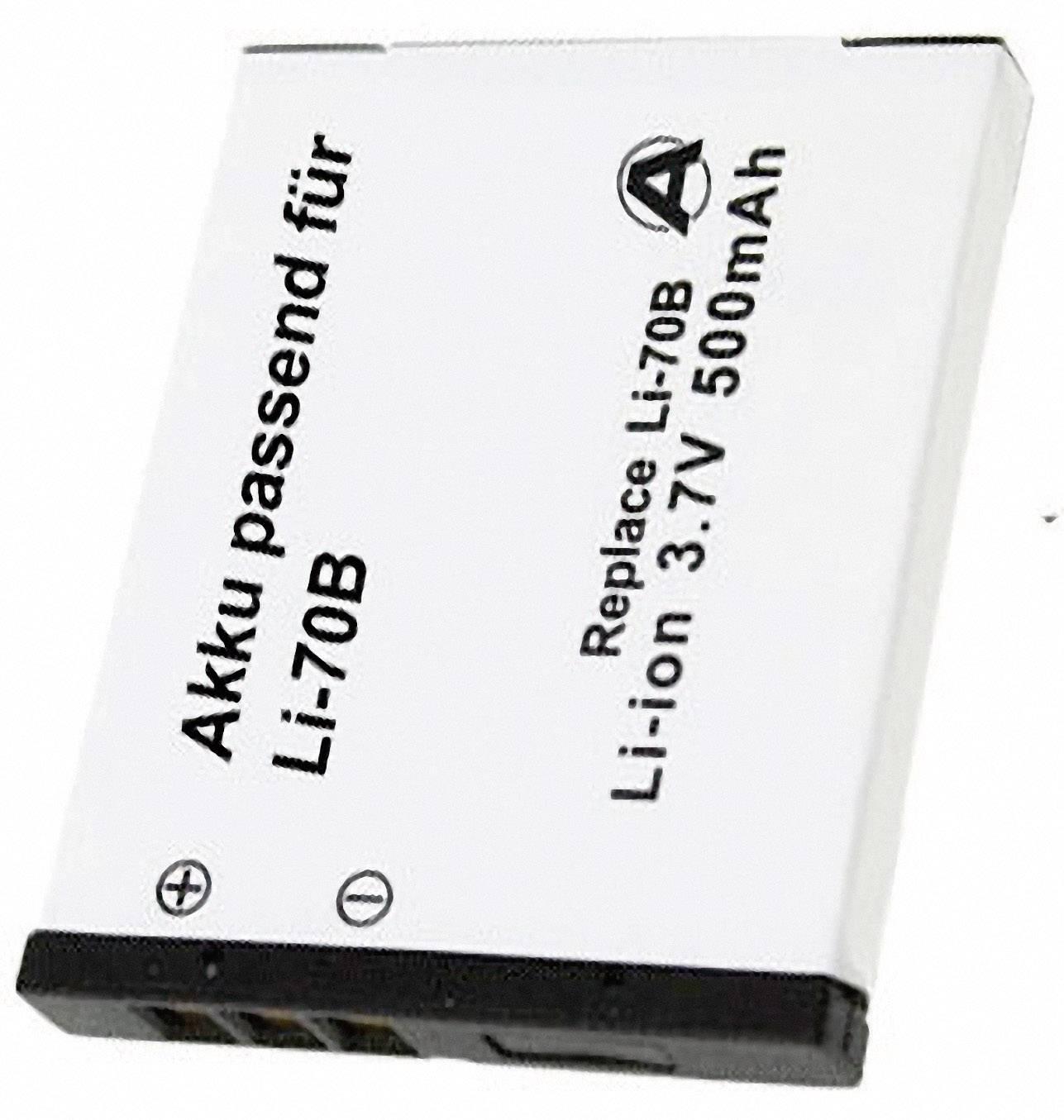 Akumulátor do kamery Conrad energy LI-70B LI70B, 500 mAh