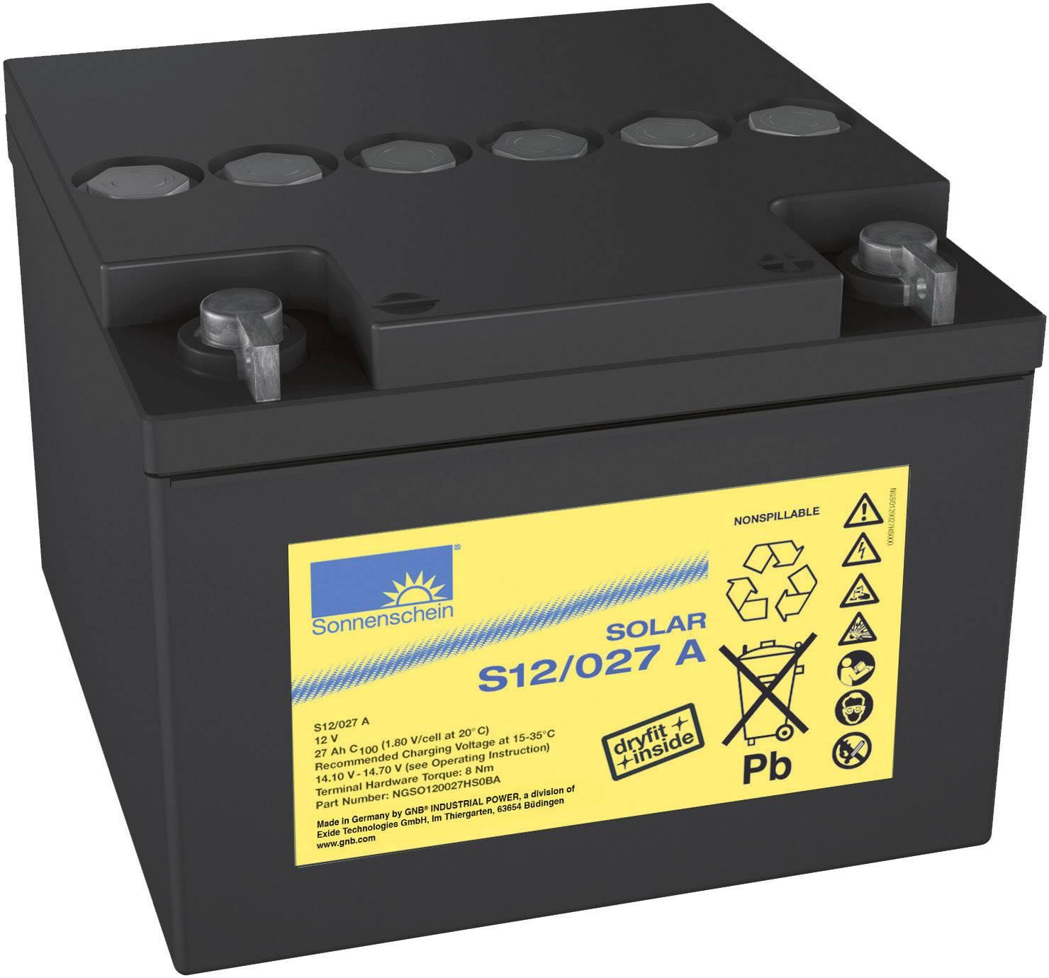 Solární akumulátor 12 V 27 Ah GNB Sonnenschein S12/27 G5 8819861000