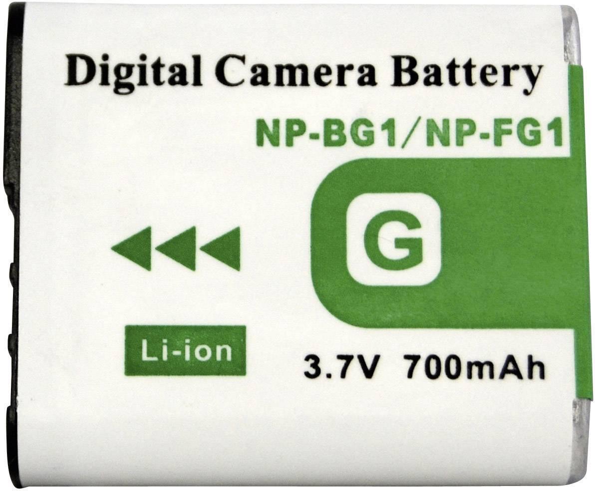 Náhradné batérie pre kamery Conrad Energy NP-BG1, 3,7 V, 700 mAh