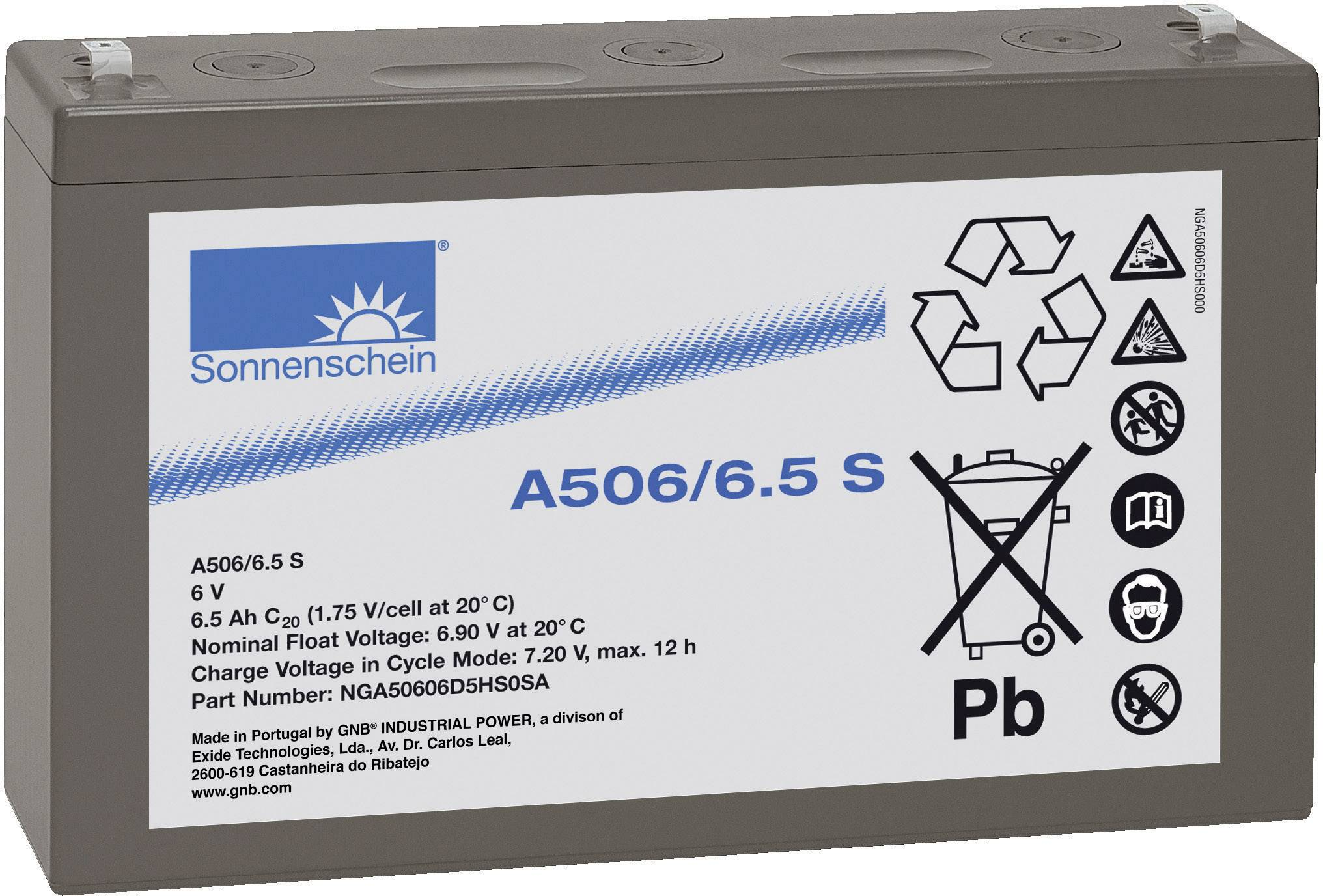 Olovený akumulátor GNB Sonnenschein A506/6,5 S NGA50606D5HS0SA, 6.5 Ah, 6 V