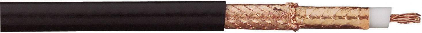Koaxiální kabel AIRCELL® 7 SSB 999H000034, 5 ±0,1 mm, 50 Ω, černá, 1 m