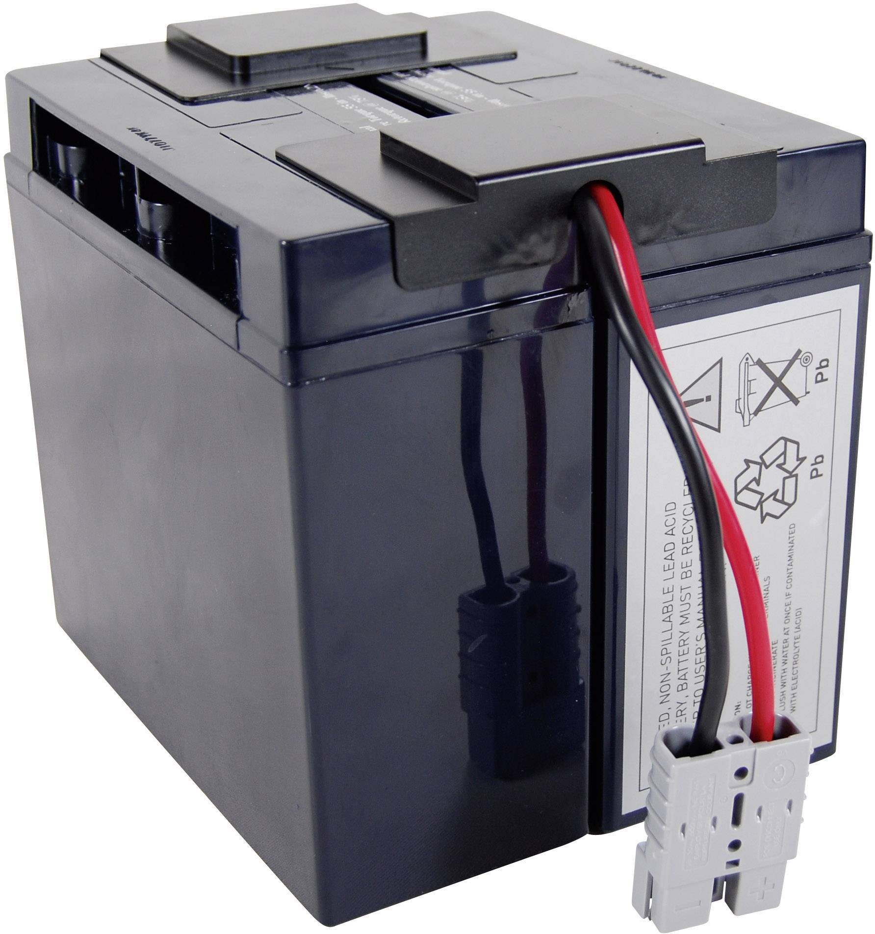Náhradný akumulátor do záložného zdroja (UPS) Conrad energy, vhodný pre BP1400, BP1400X116, DLA1500, DLA1500I, SMT1500, SMT1500I, SMT1500ICH, SMT1500TW, SMT1500US, SU1000XL, SU1000XLJ, SU1000XLNET, SU1400, SU1400BX120, SU1400I, SU1400INET, SU1400X106, SU1