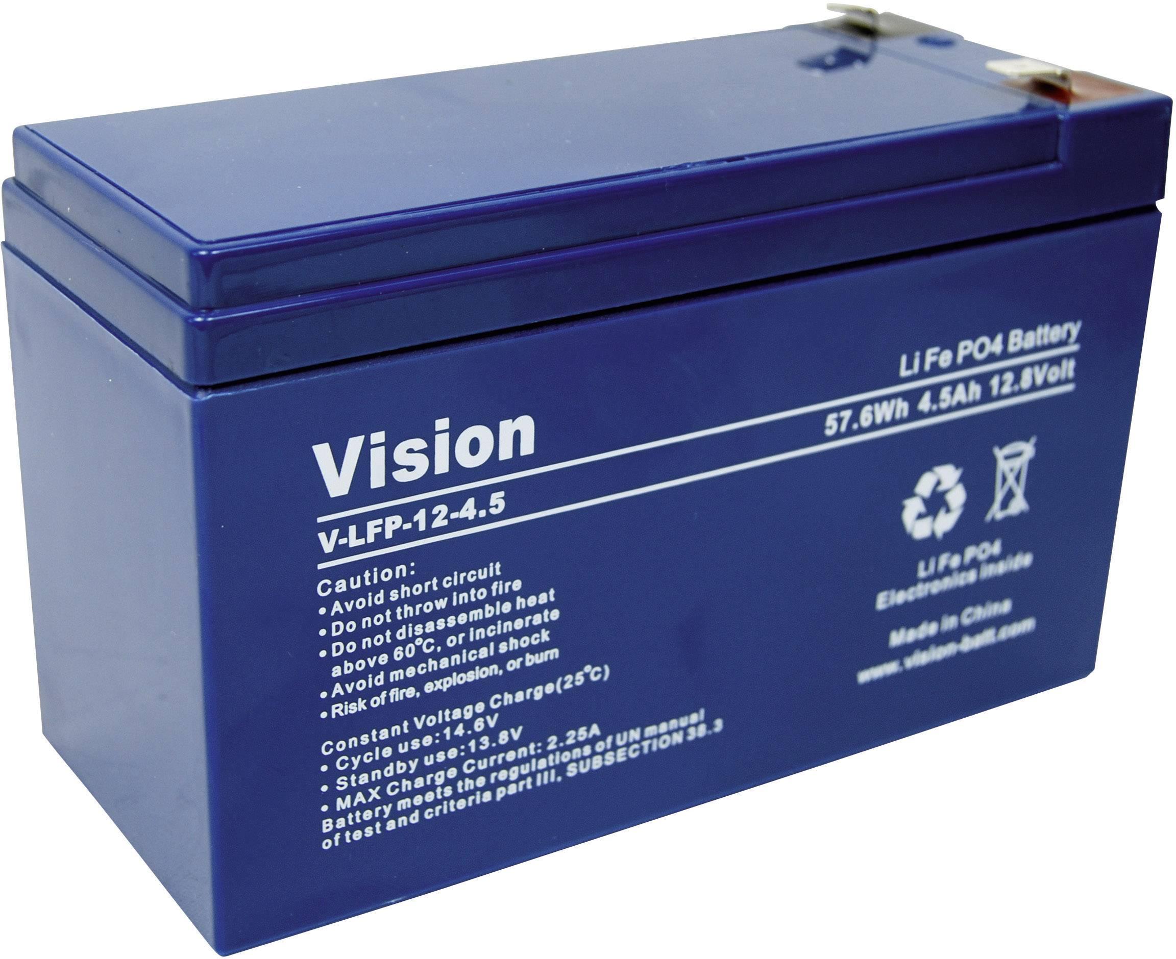 Špeciálny akumulátor Vision Akkus LFP124.5, Li-Fe-Pol blok, LiFePO4, 12.8 V, 4500 mAh
