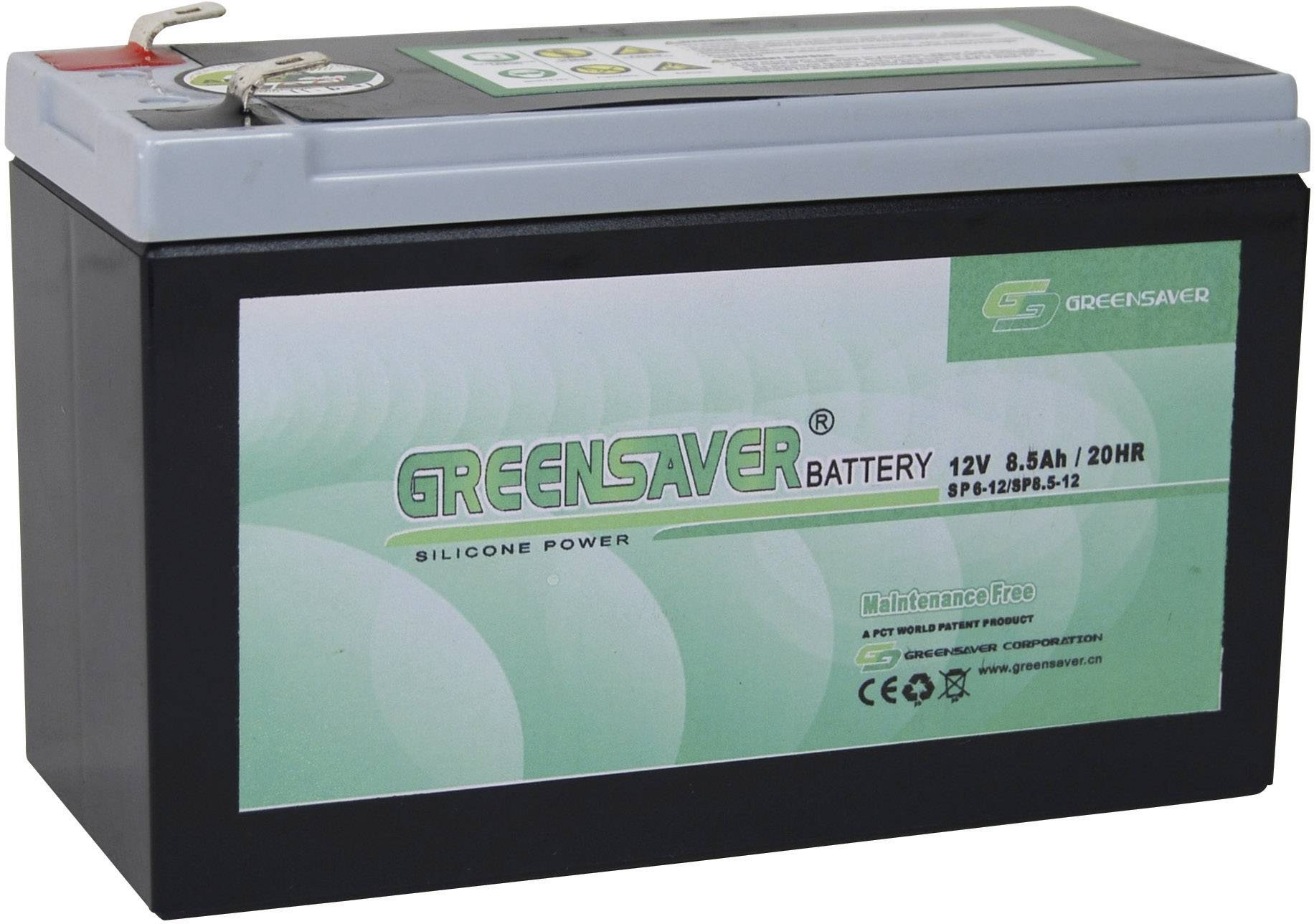 Olovený akumulátor Greensaver SP8.5-12, SP6-12 SP6-12/SP8.5-12, 8.5 Ah, 12 V
