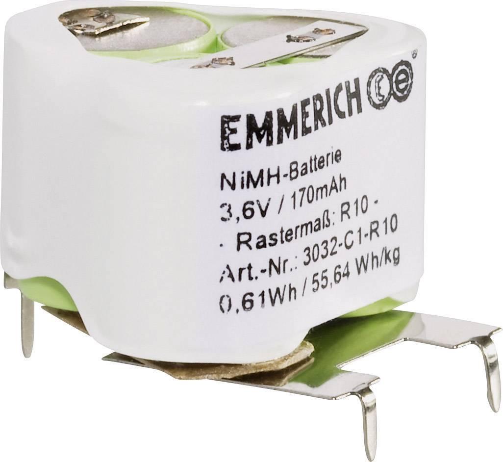 Akupack - sada nabíjacích batérií NiMH 3 špeciálny akumulátor Emmerich 251574, 170 mAh, 3.6 V