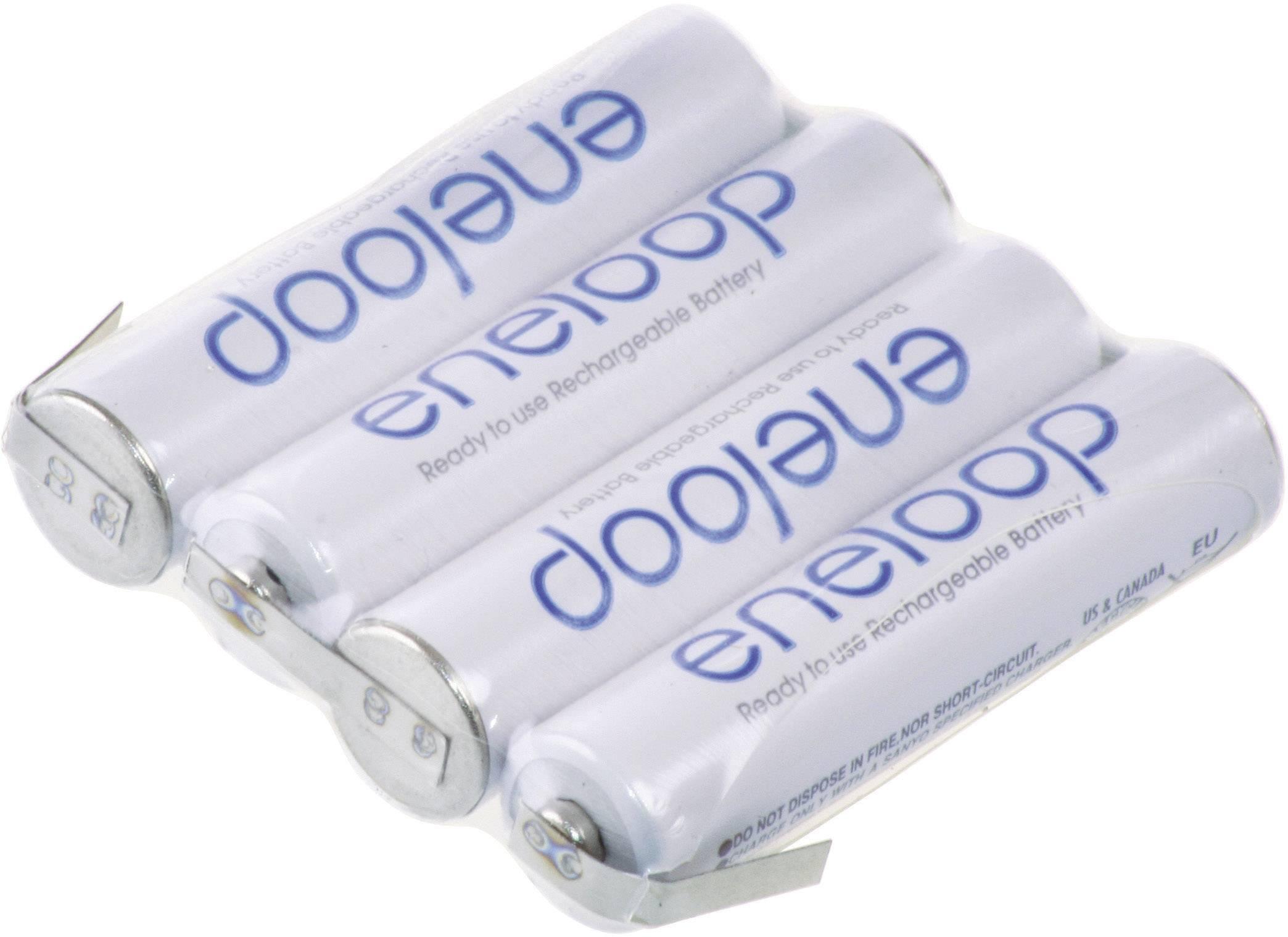 Akupack - sada nabíjacích batérií NiMH 4 micro (AAA) Panasonic eneloop Reihe F1x4 126872, 750 mAh, 4.8 V