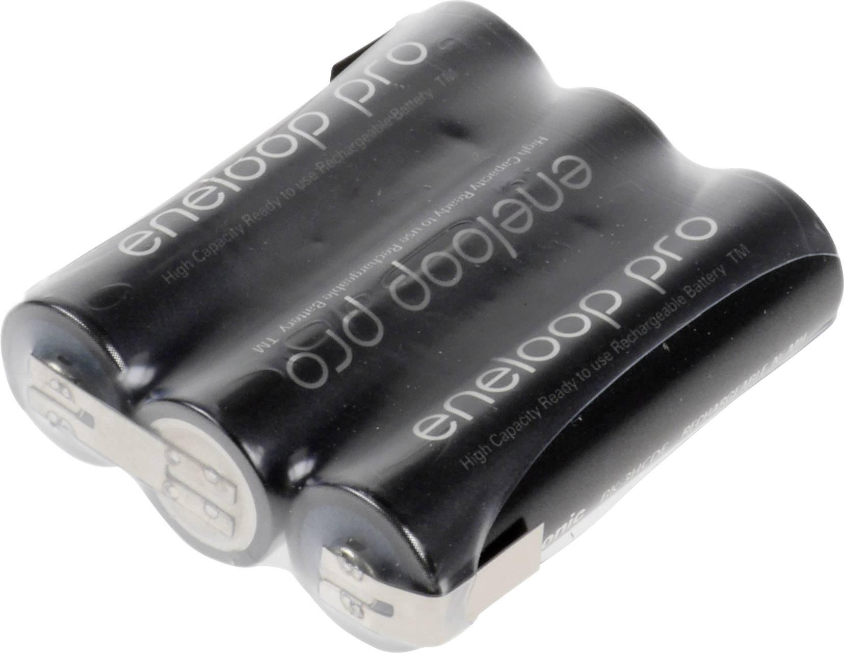 Akupack - sada nabíjacích batérií NiMH 3 mignon (AA) Panasonic eneloop Pro Reihe F1x3 135551, 2450 mAh, 3.6 V
