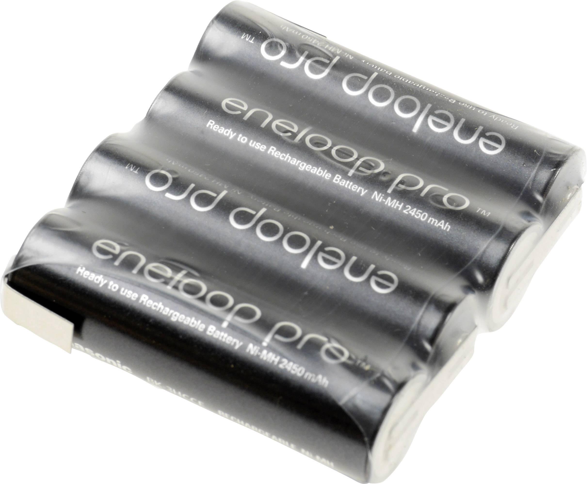 Akupack - sada nabíjacích batérií NiMH 4 mignon (AA) Panasonic eneloop Pro Reihe F1x4 134282, 2450 mAh, 4.8 V