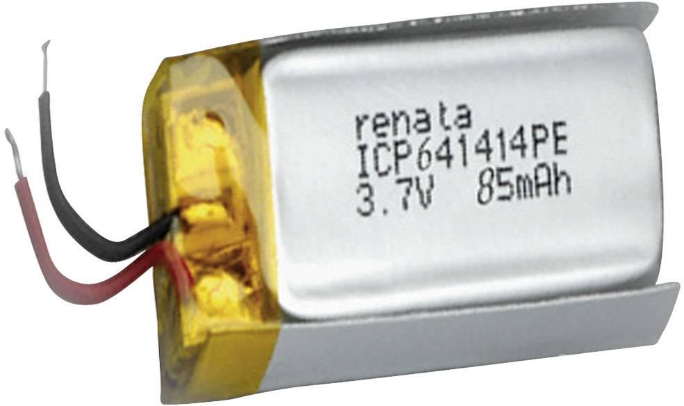 Špeciálny akumulátor Renata ICP641414PE, LiPo, 3.7 V, 85 mAh