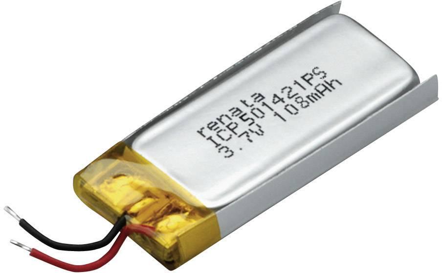 Špeciálny akumulátor Renata ICP501421PS, LiPo, 3.7 V, 115 mAh
