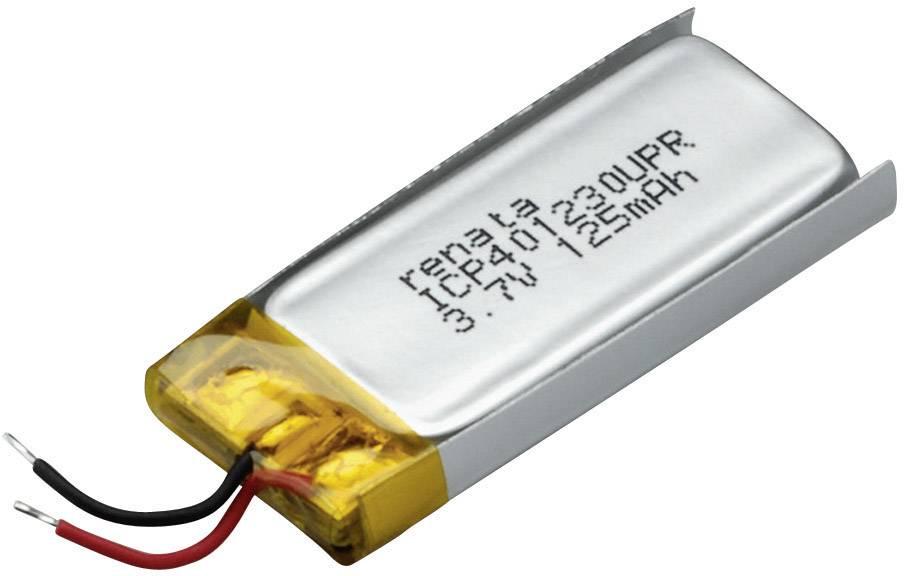 Špeciálny akumulátor Renata ICP401230UPR, LiPo, 3.7 V, 130 mAh