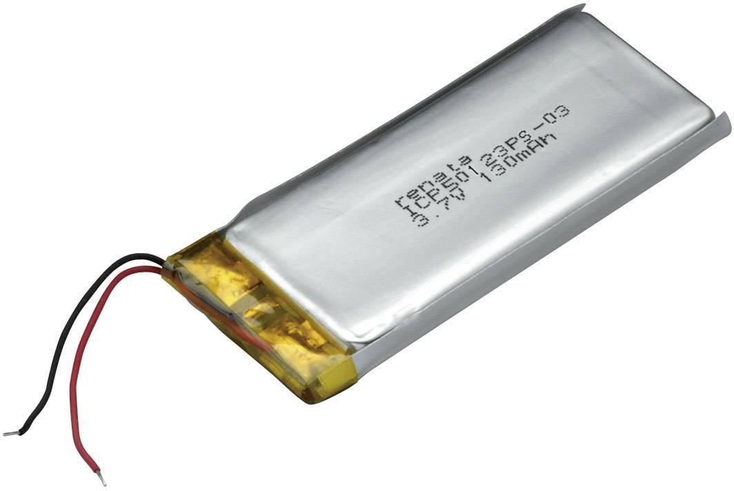 Špeciálny akumulátor Renata ICP50123PS-03, LiPo, 3.7 V, 130 mAh