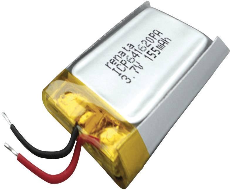 Špeciálny akumulátor Renata ICP641620PA, LiPo, 3.7 V, 165 mAh