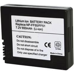 Náhradní baterie pro kamery Conrad Energy NP-FF50/NP-FF51, 7,2 V, 600 mAh
