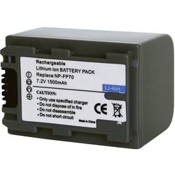 Náhradní baterie pro kamery Conrad Energy NP-FP70, 7,2 V, 1100 mAh