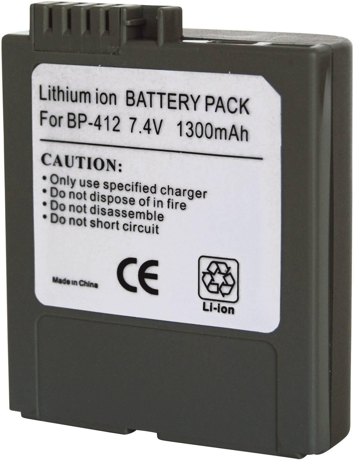 Akumulátor do kamery Conrad energy 252081 252081, 1300 mAh