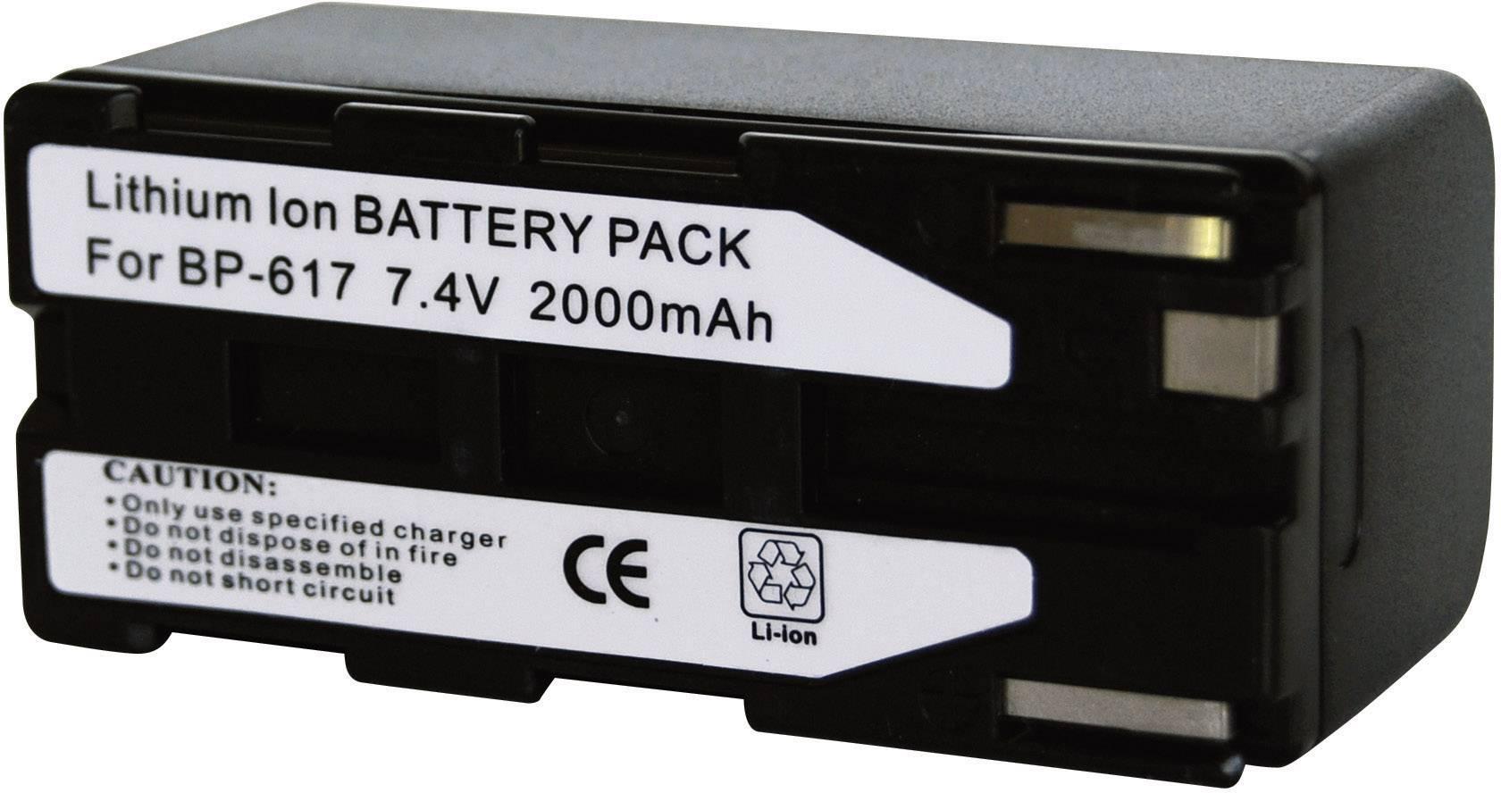 Akumulátor do kamery Conrad energy 252086 252086, 1850 mAh