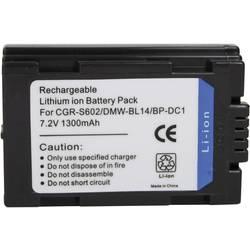 Náhradní baterie pro kamery Conrad Energy CGR-S602/DMW-BL14, 7,2 V, 1300 mAh