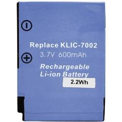 Náhradní baterie pro kamery Conrad Energy KLIC-7002, 3,7 V, 450 mAh
