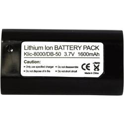 Náhradní baterie pro kamery Conrad Energy KLIC-8000, 3,7 V, 1400 mAh