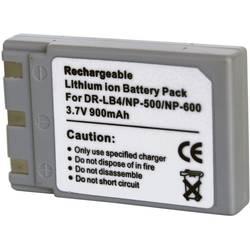 Náhradní baterie pro kamery Conrad Energy NP-500/NP-600/DR-LB4, 3,7 V, 800 mAh