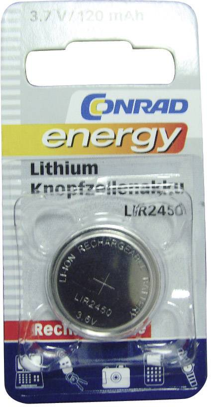 Lítiové gombíkové akumulátory LIR 2450