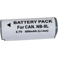 Náhradní baterie pro kamery Conrad Energy NB-9L, 3,7 V, 500 mAh