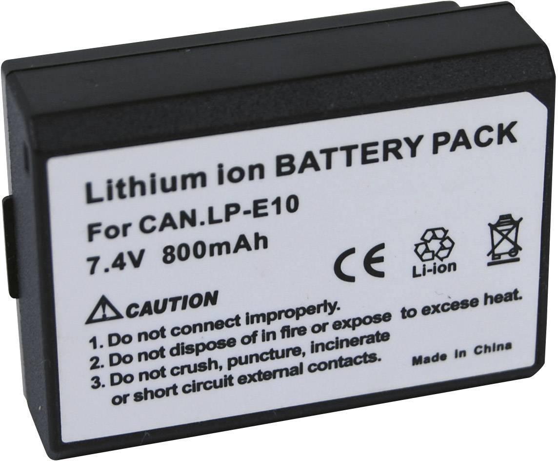 Akumulátor do kamery Conrad energy LP-E10 Canon LPE10, 800 mAh