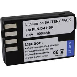 Náhradní baterie pro kamery Conrad Energy D-LI109, 7,4 V, 900 mAh