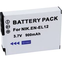 Náhradní baterie pro kamery Conrad Energy EN-EL12, 3,7 V, 650 mAh